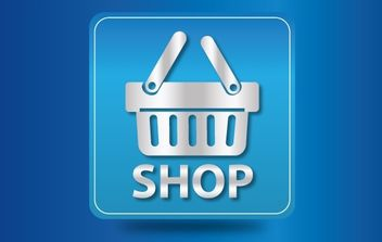 Icon Glossy Shopping Cart - vector gratuit #174049