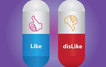 Like Dislike Capsule Icon - Free vector #174099