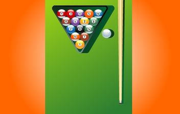 Billiard Game Instruments - vector gratuit #174139