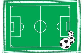 Artistic Football field and Balls - vector gratuit #174149