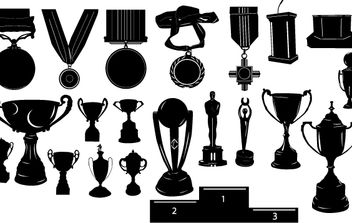 Silhouette Trophy Pack - Free vector #174169