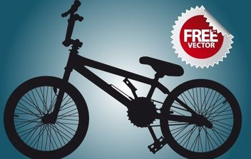 Silhouette Bicycle - vector gratuit #174189