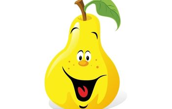 Cartoon Pear - vector gratuit #174219