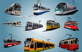 High Detail City Train - vector gratuit #174289