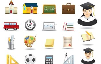 Educative Icon Pack - vector gratuit #174309