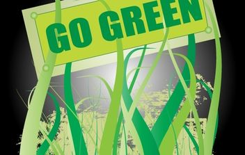 Go Green Nature Vector - бесплатный vector #174409