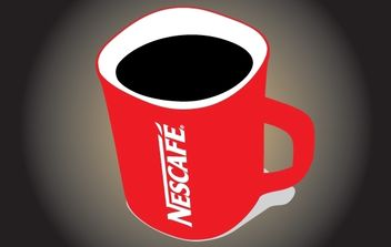 Red Nescafe Mug Vector - vector gratuit #174419