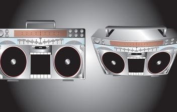 High Detail Boombox Vector - Free vector #174429