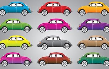 Kafer or Beatle Car Vector - vector #174469 gratis