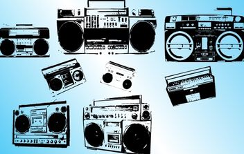 Grungy Vector Cassette Players - vector gratuit #174529