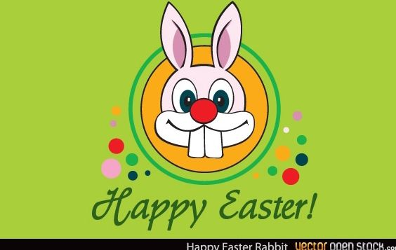 Happy Easter Rabbit - Free vector #174619