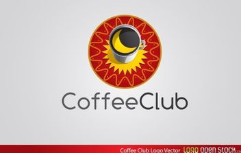Coffee Club Logo Vector - vector gratuit #174769