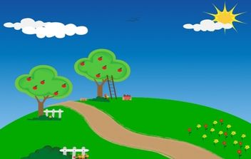 Apple trees - vector gratuit #174789