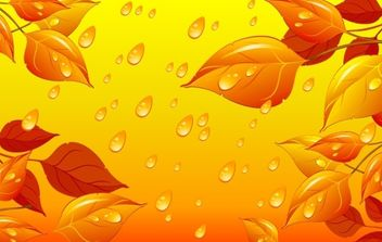 Autumn Leaves Vector Illustration - vector gratuit #174809