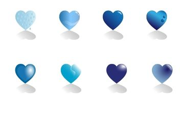 Blue hearts - vector gratuit #174909