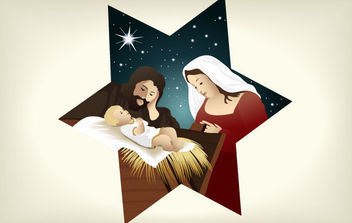Christmas Nativity Scene 4 - vector gratuit #175079