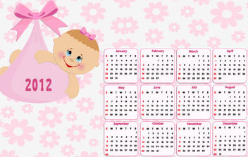Beautiful 2012 Calendar - Free vector #175149