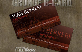 Vector Grunge B-card Template - Free vector #175159