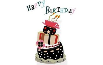 Birthday Cake - Free vector #175249