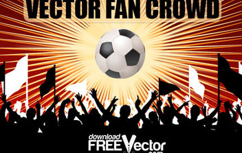 Free Vector Fan Crowd - Free vector #175259