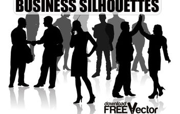 Free Vector Of Business Silhouettes - бесплатный vector #175269