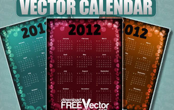 Vector Calendar For 2012 - Kostenloses vector #175279