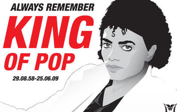 Michael Jackson vector illustration rip - vector gratuit #175309