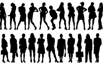 Girl Silhouette - Free vector #175489