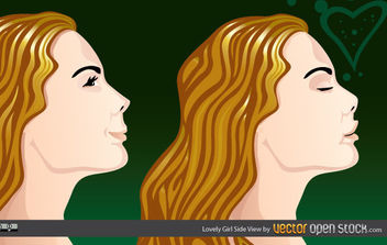Lovely Girl Side view - бесплатный vector #175499