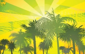 Palm Trees background 8 - Free vector #175509