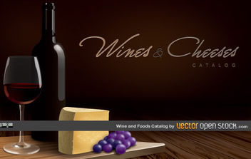 Wines and Cheeses Catalog - vector #175559 gratis