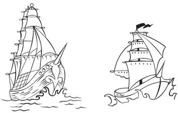 Free Vector Pirate Ships - Kostenloses vector #175709