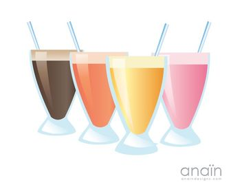 Milkshakes and Smoothies - vector gratuit #175789