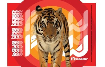 Save the Tiger - vector #175859 gratis