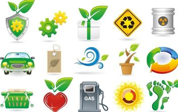 Green Theme Vector Icons - бесплатный vector #176009