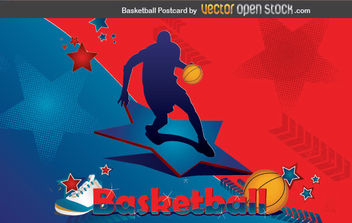Basketball Postcard - vector gratuit #176039