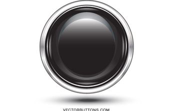 Platinum Black Circle Button - Free vector #176169