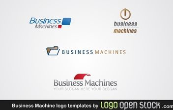Business Machine Logo Template - vector gratuit #176329