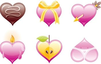 Valentine's hearts icon set - vector #176379 gratis