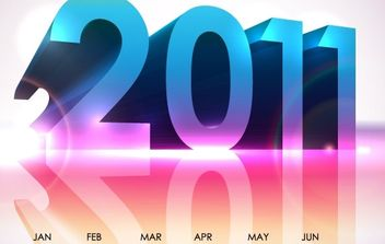 Cool Calendar 2011- Vector Design - бесплатный vector #176529