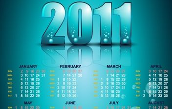 Year 2011 Calendars 22 - vector #176539 gratis