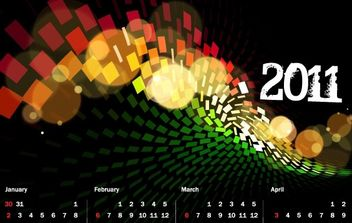 2011 Calendar and Grid - vector gratuit #176549