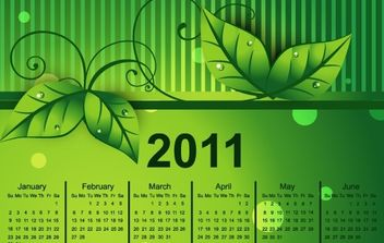 Colorful 2011 Vector Calendar 2 - Free vector #176559