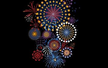 FIREWORKS 5 - Free vector #176599