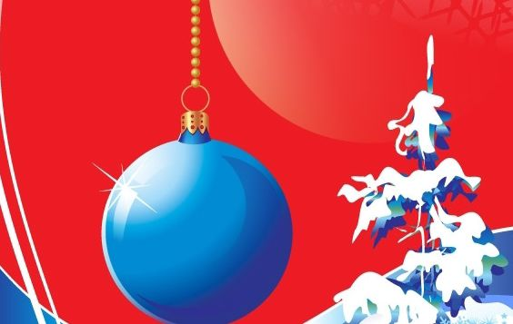 Blue Christmas Vector Design Theme - Free vector #176689