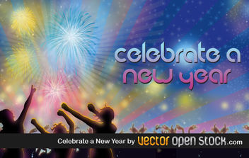 Celebrate a New Year - Free vector #176719