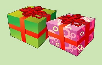 Christmas Box - vector gratuit #176859