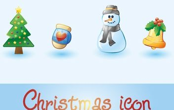 christmas icon - vector gratuit #176869