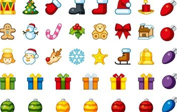 Christmas Holiday Icons - Free vector #176879