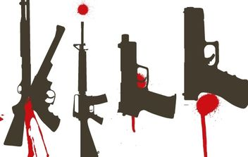 Bloody Guns free vector - Free vector #177019
